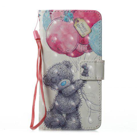 Shop Wkae 3D Stereo Painted Leather Case Cover for Samsung Galaxy J510