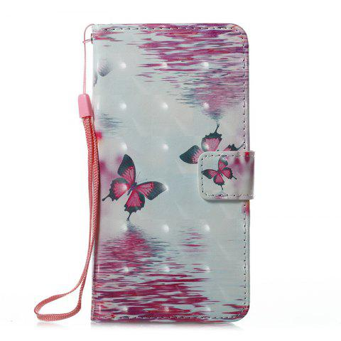 Discount Wkae 3D Stereo Painted Leather Case Cover for Samsung Galaxy J510