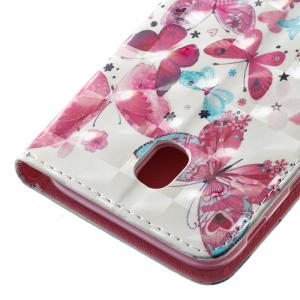 Wkae 3D Stereo Painted Leather Case Cover for Samsung Galaxy J530 -