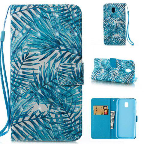 Hot Wkae 3D Stereo Painted Leather Case Cover for Samsung Galaxy J530