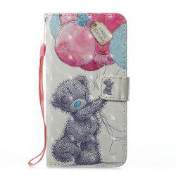 Wkae 3D Effect Painted Leather Case Cover for Samsung Galaxy J710 -
