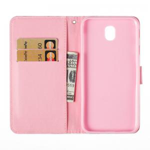 Wkae 3D Effect Painted Leather Case Cover for Samsung Galaxy J730 -