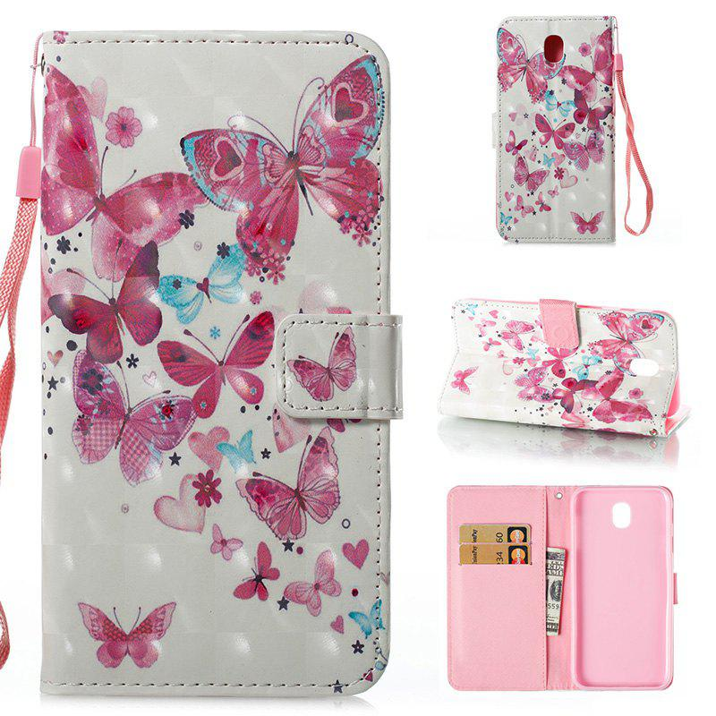 Affordable Wkae 3D Effect Painted Leather Case Cover for Samsung Galaxy J730