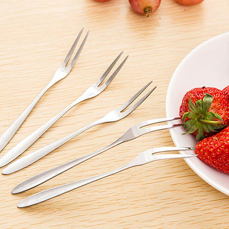 DIHE Metal Dessert Fruit and Vegetable Fork 1PCHOME<br><br>Color: STAINLESS STEEL; Brand: DIHE; Type: Dinnerware; Material: Stainless Steel;