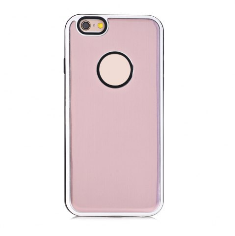 Unique TPU Metal Back Shockproof Anti-Scratch Cover Case for iPhone 6 / 6S