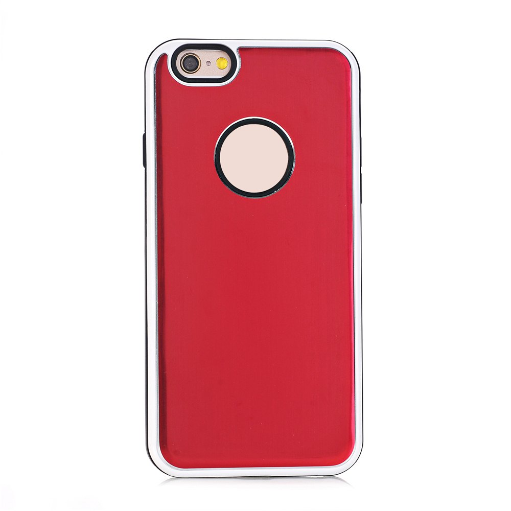 Shops TPU Metal Back Shockproof Anti-Scratch Cover Case for iPhone 6 / 6S