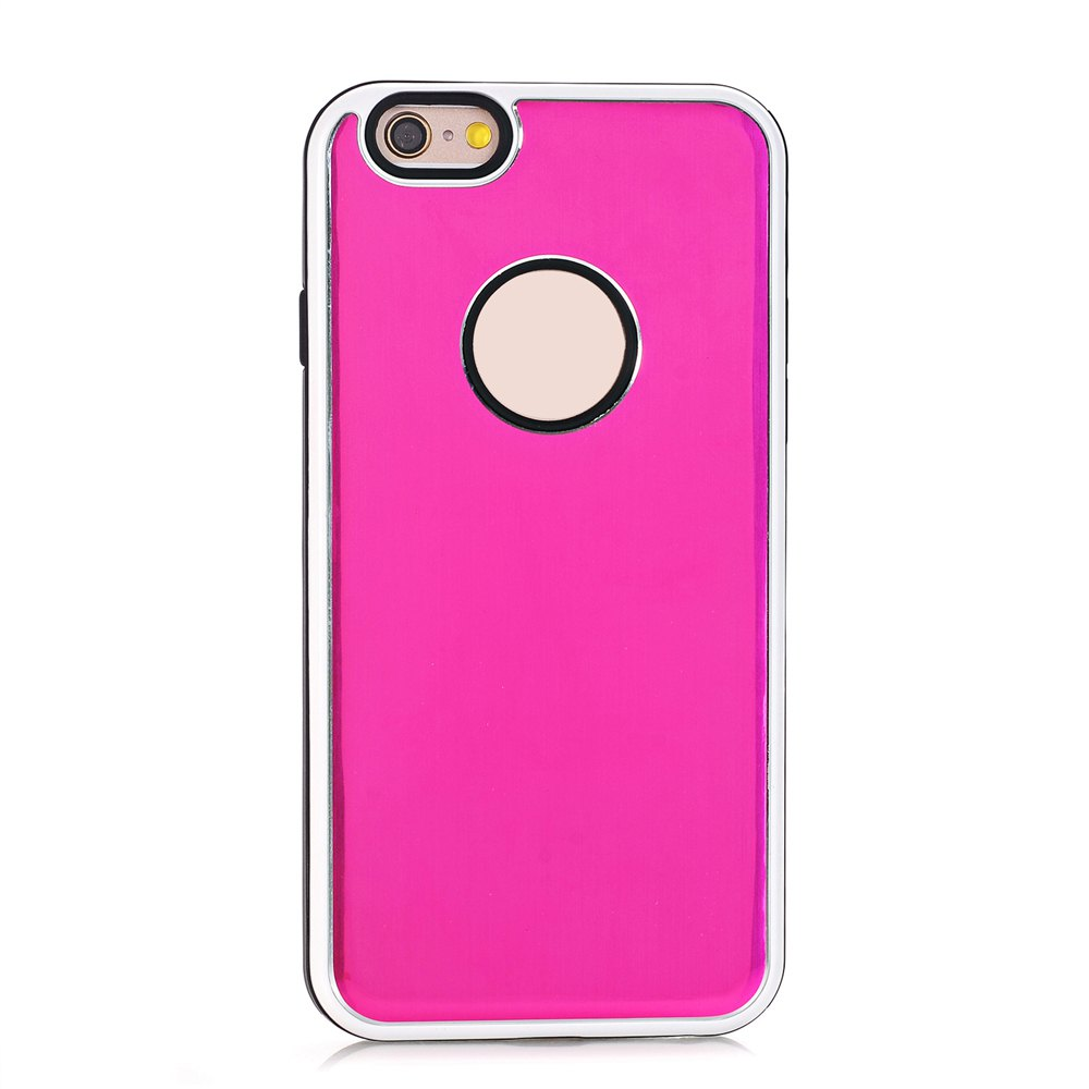 Buy TPU Metal Back Shockproof Anti-Scratch Cover Case for iPhone 6 / 6S