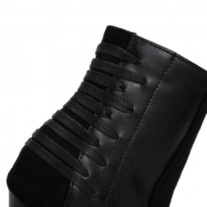 Women's Chic Patchwork Pointed Toe Thin High-Heel Back Zipper Lady Boots -
