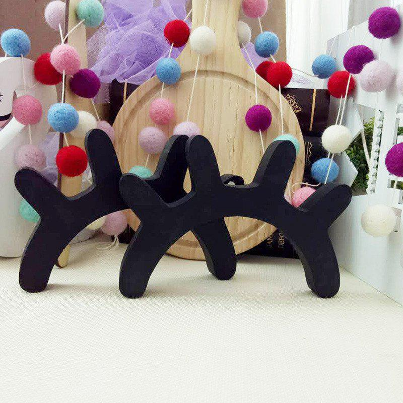 Shop 2Pcs Wooden Solid Eyelash Shaped Decorative Wall Sticker