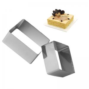 WS Stainless Steel Square Mousse Ring 3D Biscuit Cookie Cutter Mold DIY Baking Pastry Tools 3PCS -