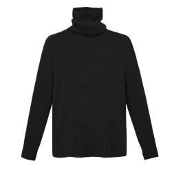 Autumn and Winter Thick High Necked Long Sleeved Solid Color Sweater -