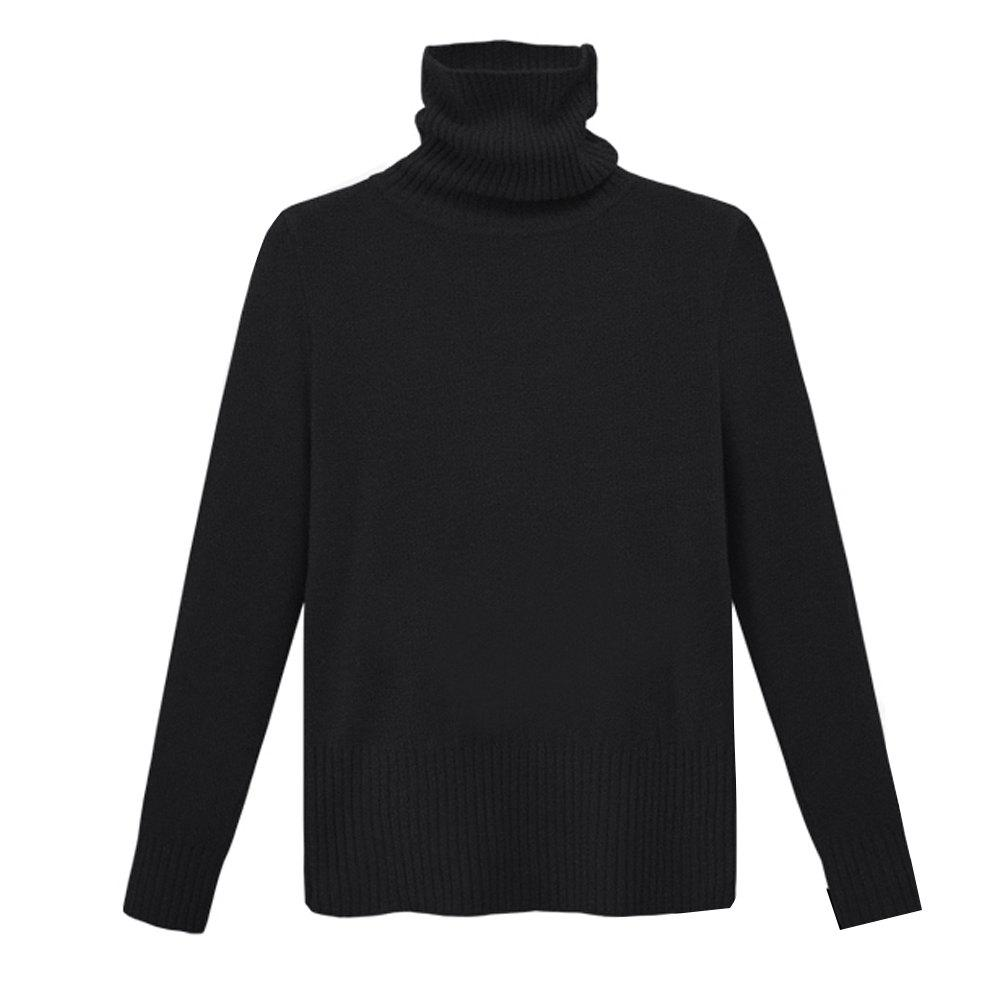 Unique Autumn and Winter Thick High Necked Long Sleeved Solid Color Sweater