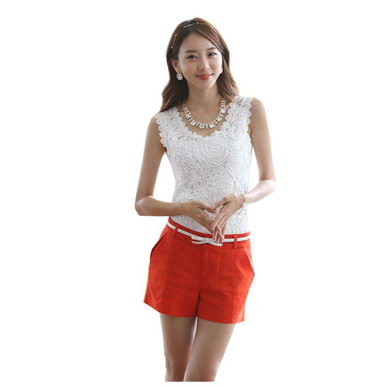 Unique Korean Version of The Lace Vest Big Sleeves Shirt