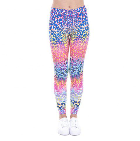 Online Women Fashion Casual Basic  Wild Roses Pink Flowers Printed  High Waist 95% Polyester 5% Spandex Fit Legging