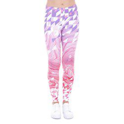 Women Fashion Casual Basic  Wild Roses Pink Flowers Printed  High Waist 95% Polyester 5% Spandex Fit Legging -