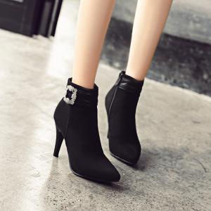 Women's Shoes Leatherette Summer Winter Fashion Boots Stiletto Heel Pointed Toe Booties Sparkling Glitter -