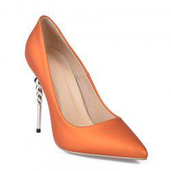 Basic Pump Formal Shoes Leatherette Spring Wedding Stiletto Heel -