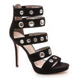 Femmes Sandales Zip Dress High Heel Platform Chaussures -