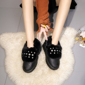 2017 Korean Winter New Flat Snow Boots Lady  Shoes  Tide -