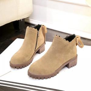 New Women's Short Boots Thick Bottom Retro Matting British Trend Ankle -