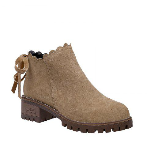 Online New Women's Short Boots Thick Bottom Retro Matting British Trend Ankle