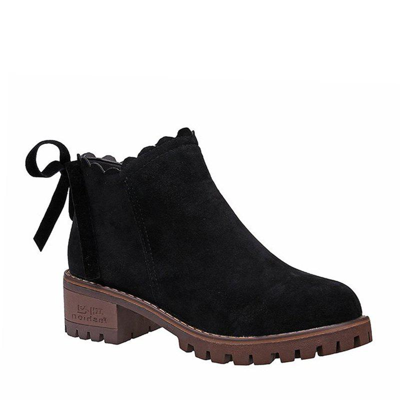 Outfits New Women's Short Boots Thick Bottom Retro Matting British Trend Ankle