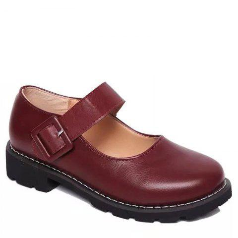 Outfit Low Heel Shallow Retro Doll Pommel Small Leather Female Students' Shoes
