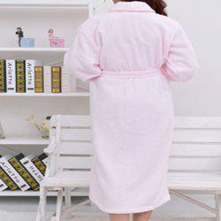 Thickened cotton towel bathrobe -