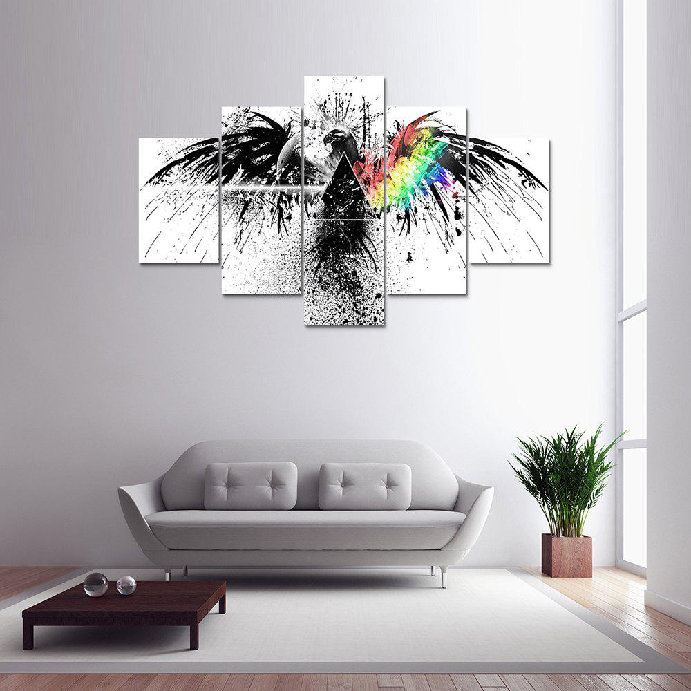Colormix 5 Panel Pink Floyd A Canvas Print Painting Home Decoration