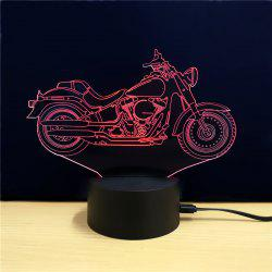 M.Sparkling TD090 Creative Motorcycle 3D LED Lamp - Colorful