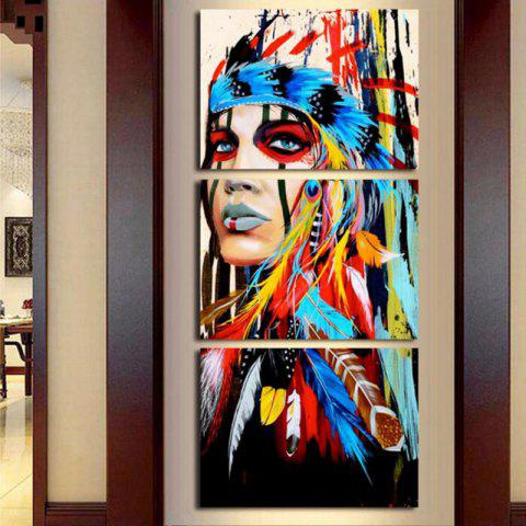 New Modern Indians Modular Canvas Wall Painting 3pcs