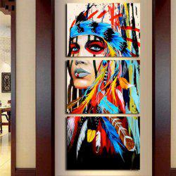 Modern Indians Modular Canvas Wall Painting 3pcs -