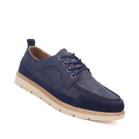 Affordable Men Casual Fashion Flat  Suede Office Lace-Up Shoes Size 39-44