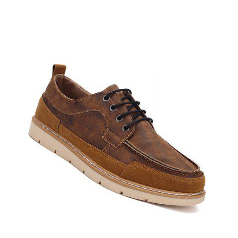 Chic Men Casual Fashion Flat  Suede Office Lace-Up Shoes Size 39-44