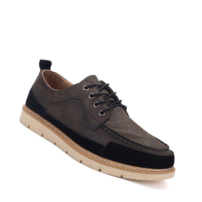 Store Men Casual Fashion Flat  Suede Office Lace-Up Shoes Size 39-44