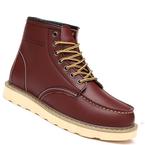 Chic Men Shoes High Top Fashion Sneakers British Office Shoes