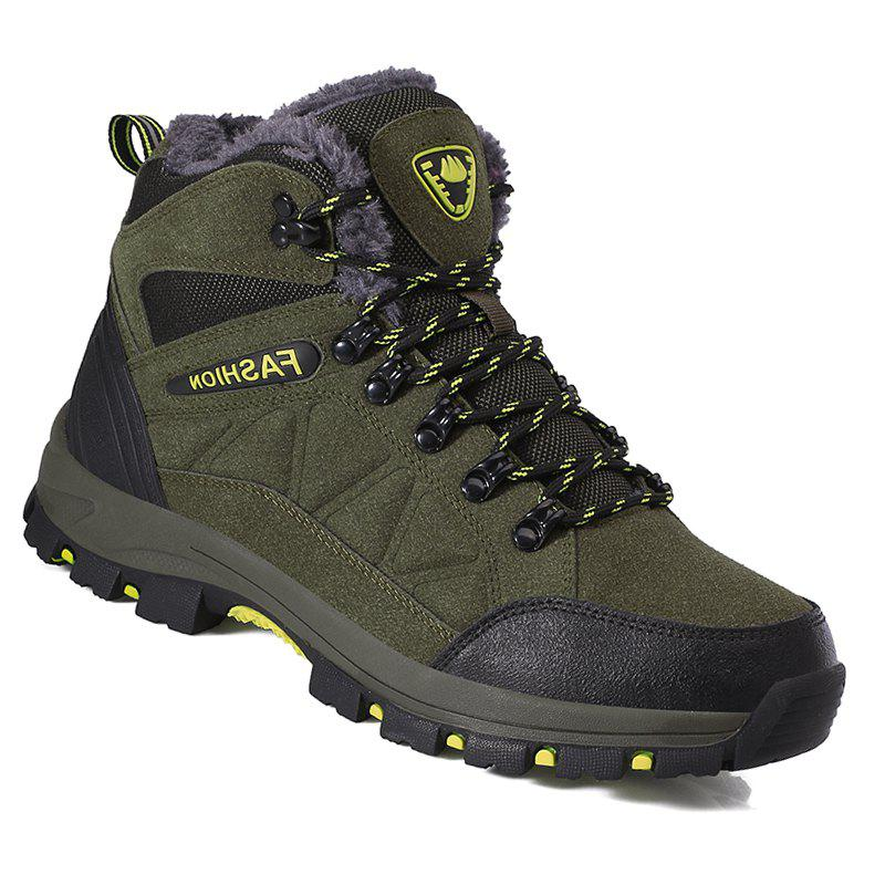 Couple Spring Hiking Boots Mountain Climbing Shoes Outdoor Plus Size Tactical BootsSHOES &amp; BAGS<br><br>Size: 43; Color: GREEN; Gender: Unisex; Closure Type: Lace-Up; Shoe Width: Medium(B/M); Pattern Type: Others; Outsole Material: Rubber; Upper Material: PU; Insole Material: PU; Lining Material: PU; Season: Winter; Feature: Massage; Weight: 1.2000kg; Available Size: 35-45; Package Contents: 1?Shoes(pair);