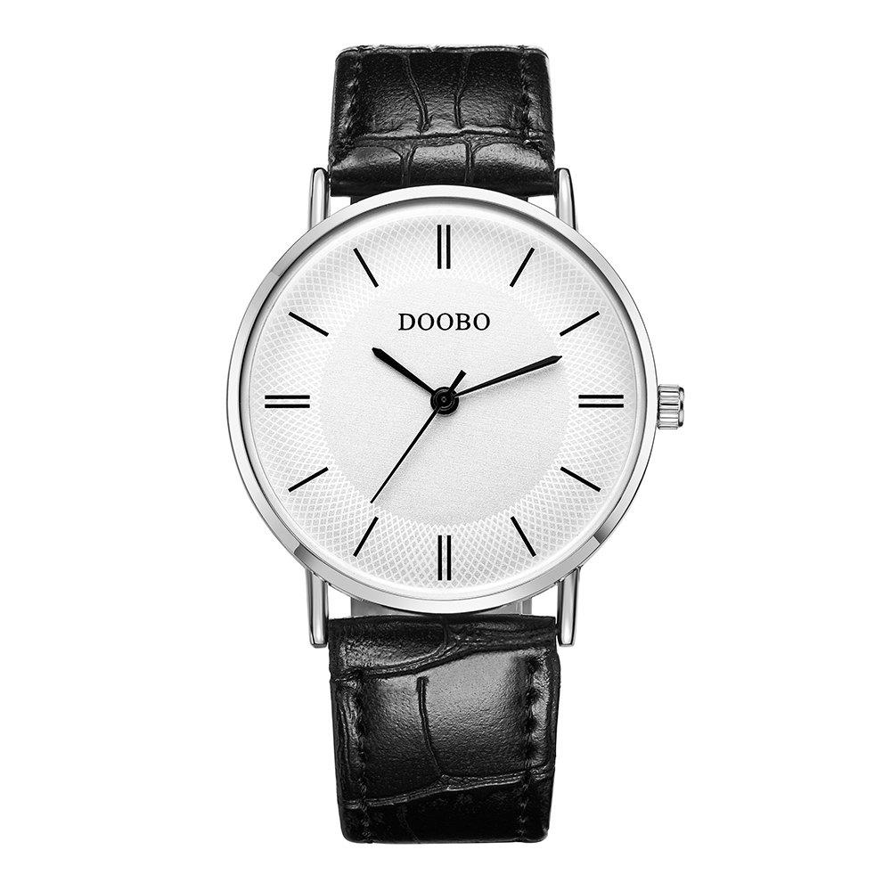 DOOBO D002 4737 Men Business Leather Band Quartz WatchJEWELRY<br><br>Color: BLACK; Brand: DOOBO; Watches categories: Men; Watch style: Business,Casual,Fashion,Outdoor Sports;