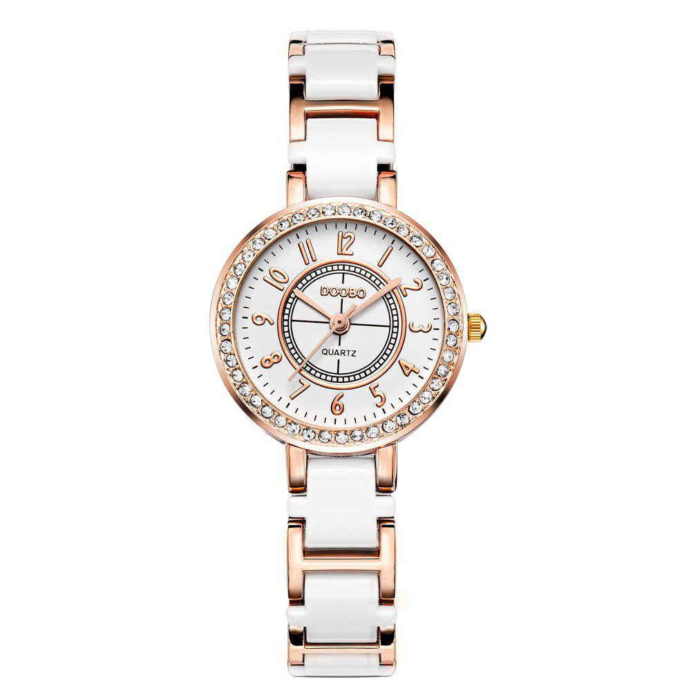 DOOBO D007 4742 Fashion Steel Band QuartzWatchJEWELRY<br><br>Color: WHITE; Brand: DOOBO; Watches categories: Women; Watch style: Casual,Classic,Fashion;