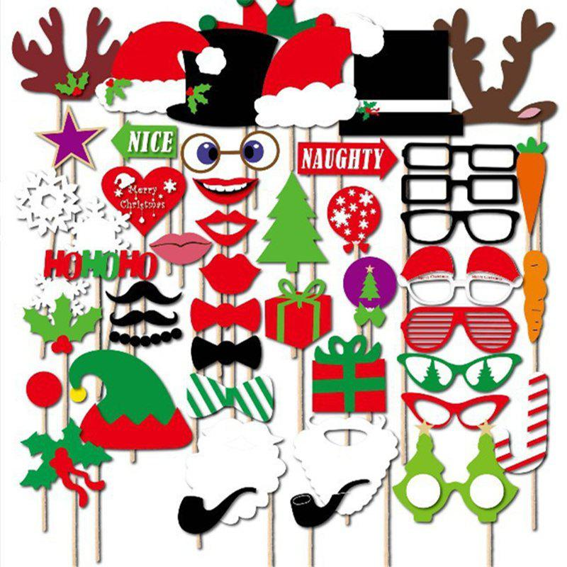 50pcs Funny Pictures Photo Props Christmas Festival Event Party DecorHOME<br><br>Color: COLORMIX; Material: Paper,Wood; Usage: Birthday,Christmas,New Year,Party,Wedding; Package Quantity: 1 x Pictures Props Set;