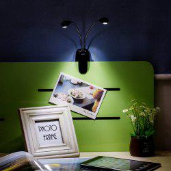 Creative LED Double Pole Clamps Desk Lamp White Light for Home Decoration -