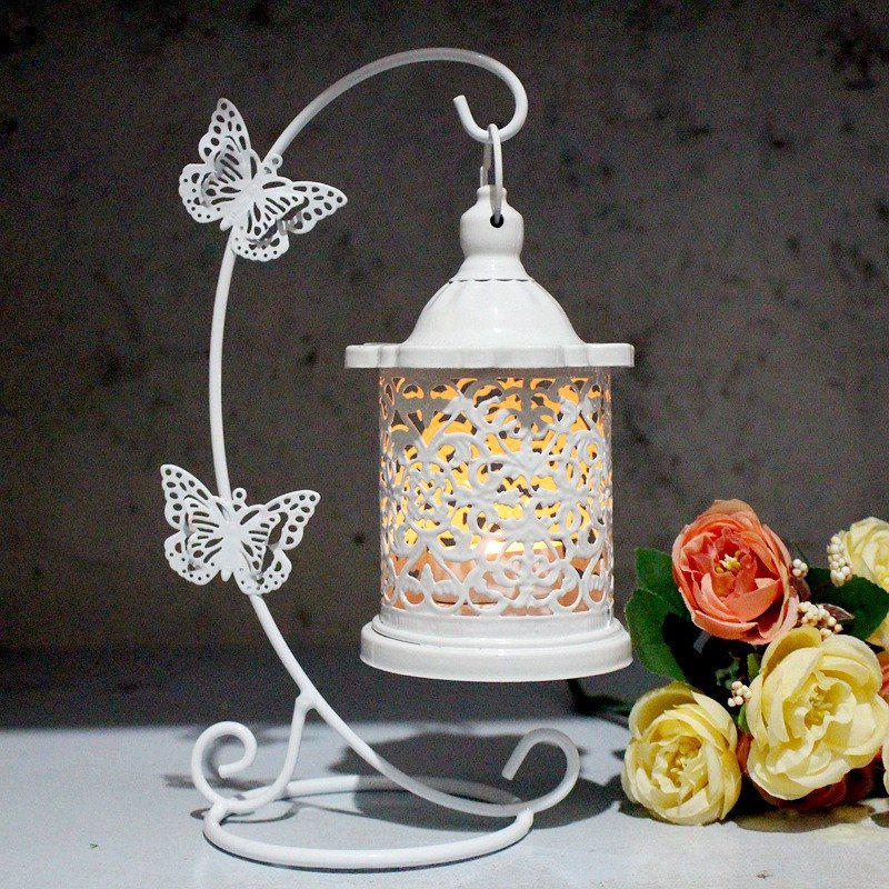 Unique Creative Iron Butterfly Hook Candle Holder