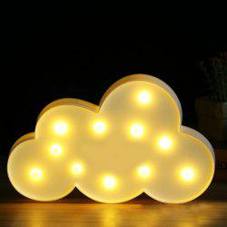 BRELONG 3D Clouds Warm White Decoration Night Light for Kids Room Christmas Wedding 3V -