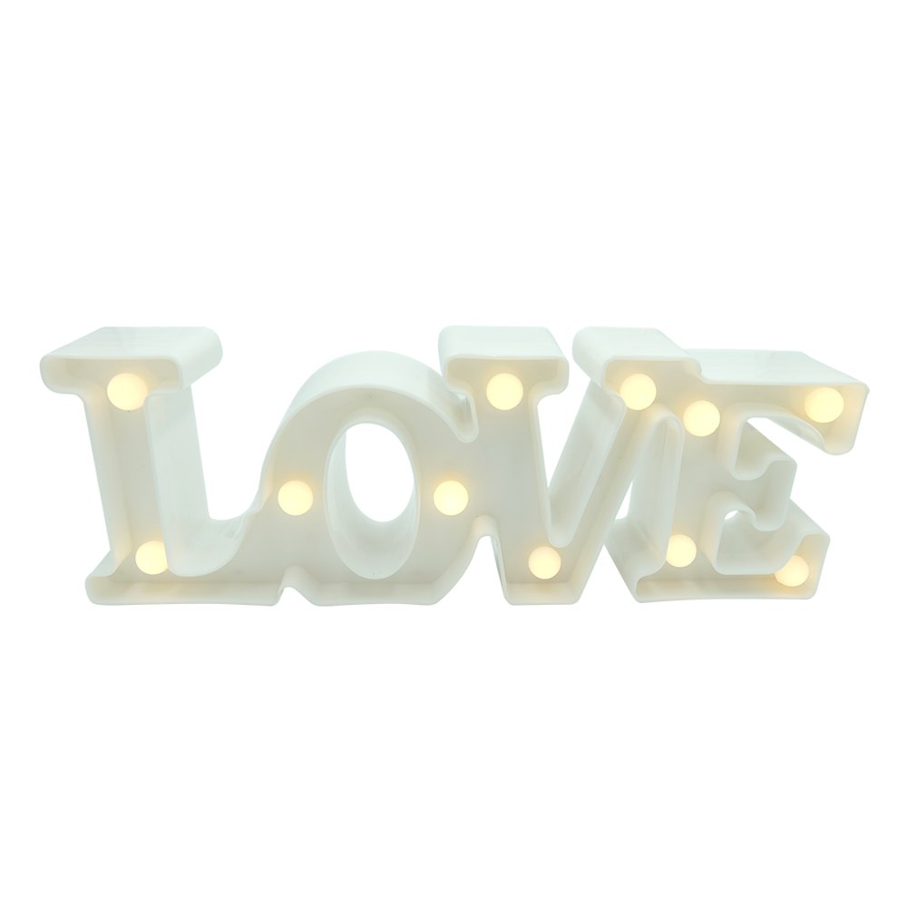 BRELONG 3D Warm White Decoration Night Light for Kids Room Christmas Wedding Love 3VHOME<br><br>Color: WHITE;