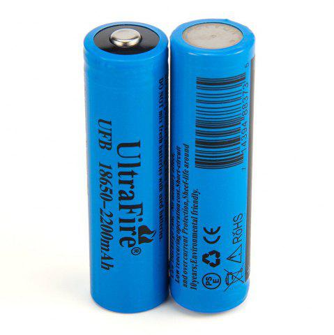 Outfit UltraFire 18650 3.7V Actual Capacity of 2200MAH Rechargeable Lithium Battery 2 Groups