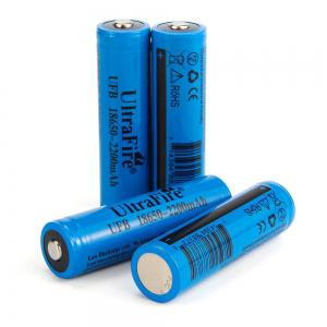 UltraFire 18650 3.7V actual capacity of 2200mAh rechargeable lithium battery 4 groups -