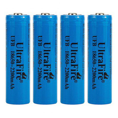 Best UltraFire 18650 3.7V actual capacity of 2200mAh rechargeable lithium battery 4 groups