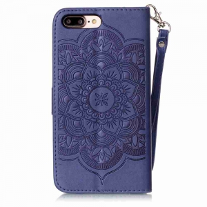Embossing Campanula PU Phone Case for iPhone 7 Plus / 8 Plus -