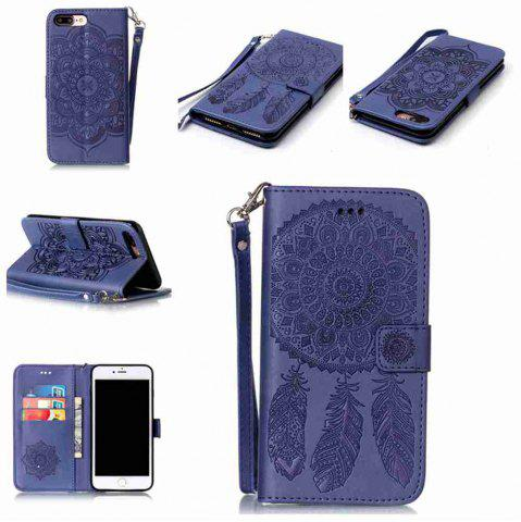 New Embossing Campanula PU Phone Case for iPhone 7 Plus / 8 Plus