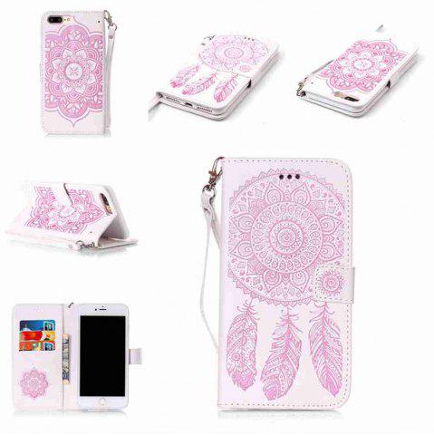 Trendy Embossing Campanula PU Phone Case for iPhone 7 Plus / 8 Plus